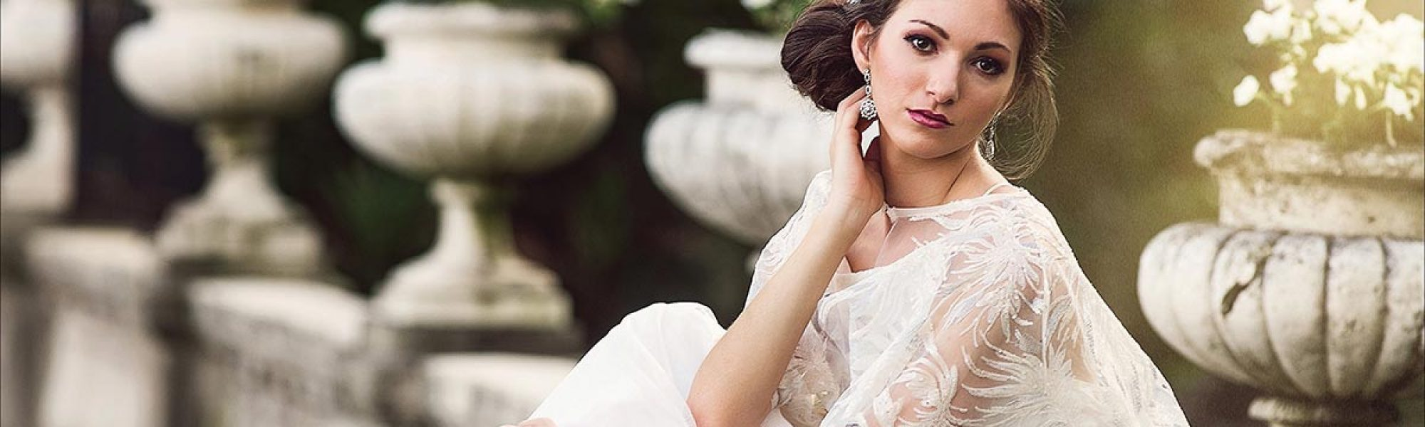 Wedding fashion with flowing cape