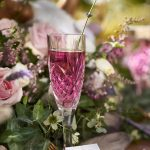 light purple colored wedding beverage