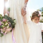 boho bride and her flower girl