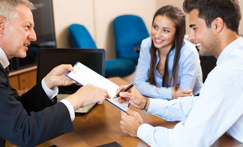 lawyer discussing prenuptial agreement