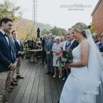 Bride and Groom outdoor rustic wedding ceremony