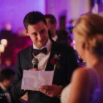 Groom serenades his bride