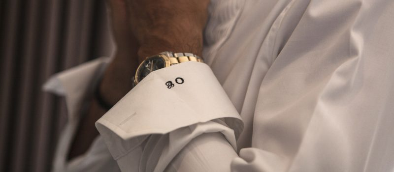 Groom's cuff monogram
