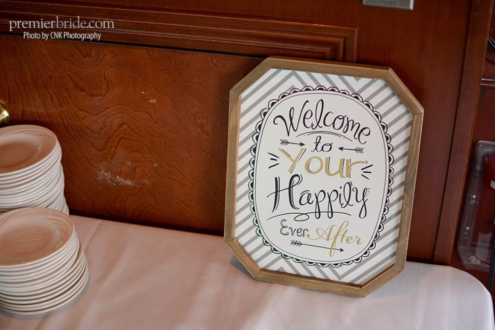 Welcome to your happily ever after sign