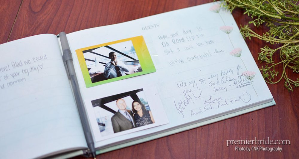 Guest book with guest photos