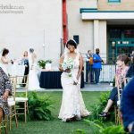 Bride enters her surprise wedding