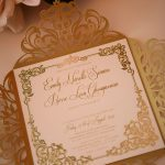 Unique gold invitations by Bwedding