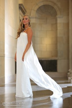 straight wedding gown