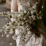 bridal bouquet with long twigs