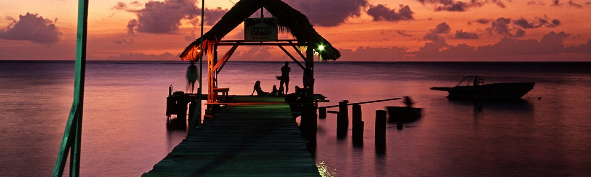 The jetty at Pigeon Point at sunset, Tobago
